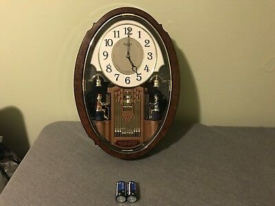 Small World Rhythm Clock Wall Hanging Musical Hourly Sound 6 Songs Has Issues!