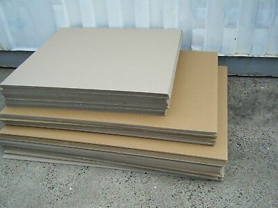90 Double Wall Corrugated Cardboard Sheets, 130cm x 97cm and 97cm x 87cm,