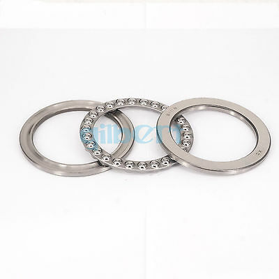 (1)51118 90x120x22mm Axial Ball Thrust Bearing (2 Steel Races + 1 Cage)ABEC-1
