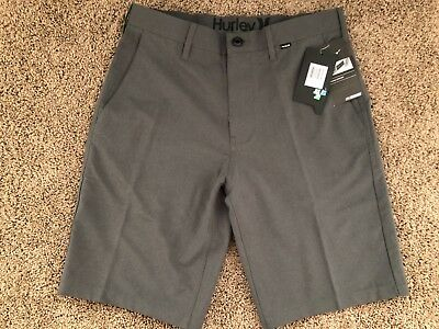 $65 BRAND NEW NIKE DRI FIT HURLEY MENS GRAY HEATHER REGULAR SHORTS 30 35 36 x 21