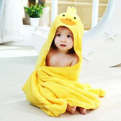 child 100% Cotton Terry Hooded Bath Swim Towel  Microfiber Dry Fast Stay Warmer