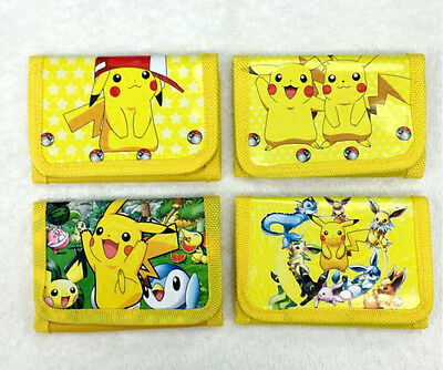 Pikachu Pokemon Cartoon Children Folding Zero Wallet Purses Bag Prize Xmas gifts