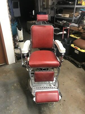 Antique barber chair Emil J Paidar Excellent Condition.