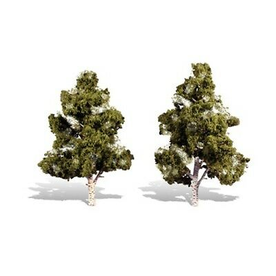 "Woodland Scenics TR3538 Waters Edge Trees 7""- 8"" (2) Light Bark, Deciduous"