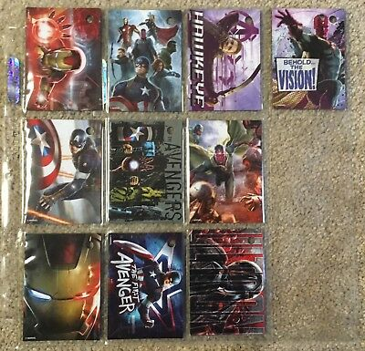 10 - Rare Marvel Avengers - Age Of Ultron - (Refrigerator) Magnets!!!
