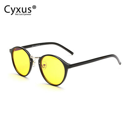 2b89a5352c Cyxus Retro Round Blue Light Blocking Computer Gaming Glasses Anti Eyestrain  UV