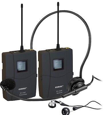 EX-218 UHF Wireless Tour Guide System For Assistive Hearing Meeting Teaching FCC