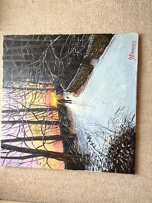 James Downie Original Large Oil Painting 'Slow Going'.