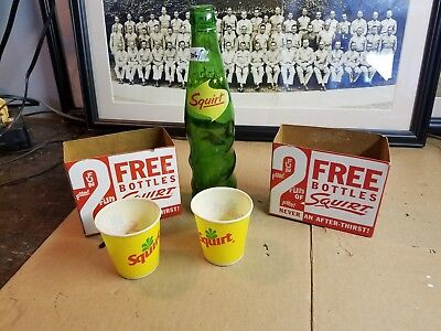 Vintage Squirt Soft Drink Advertising lot of 5