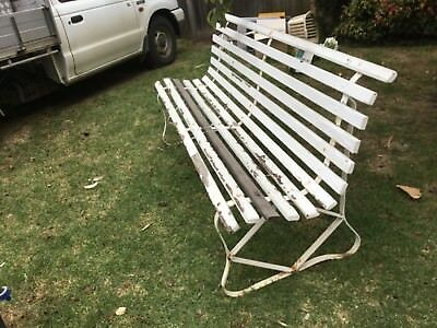 Wrought iron & wood Outdoor Setting Garden Patio bench seat 1.83 m long