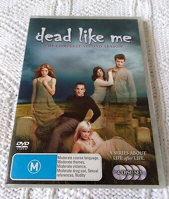 Dead Like Me– Season 2- Dvd, 4 -Disc Set, R-4, Like New, Free Shipping