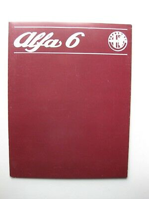 Alfa Romeo 6 prestige brochure Prospekt Dutch text 36 pages 1979
