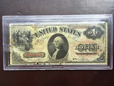 1875 $1 Dollar United States Legal Tender Ornate Red Seal Note in Hard Case