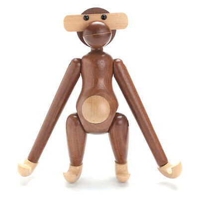Wood Monkey Action Figure Denmark Design Animals Doll Teak Monkey Doll
