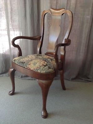 Queen Ann Baker Style Dining Occasional Arm Chair