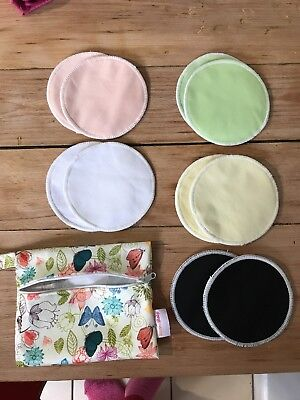 Washable Reusable Breast Pads X5 Pairs Breastfeeding