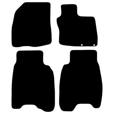 Tailored Black Car Floor Mats Carpets 4pc Set with Clips for Honda Civic