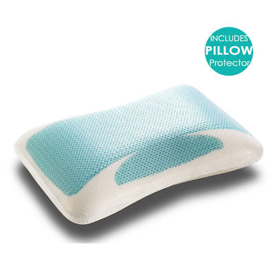 Premium High Density Memory Foam Pillow with Cooling Gel Standard /Contour Size