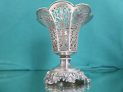 Ottoman Foot Shell, Solid Shell Silver Tugra, Fligran Floral