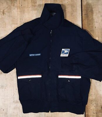 XL Coat Jacket Warm Letter Carrier Mailman Navy Blue Union made USA Post office