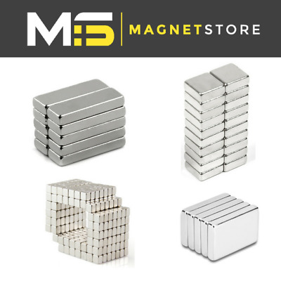 Big & Small Super Strong Block Bar Neodymium Magnet 2mm 4mm 5mm 6mm 8mm 10mm