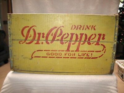 Dr, Pepper Wooden Soda Crate,  June 1935   Very Rare Vintage   Beautiful Shape!
