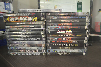 Lot 27 DVD Catch WWE wwf wrestlemania limited wrestling collector a voir