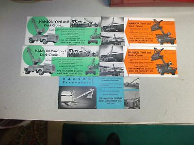 Vtg Hanson Exacators Ink Blotters Excellent Condition Local Company Htf