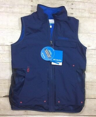 Columbia Water/Wind Resistant Vest B Lined Youth Boys BLUE Size L (14/16)