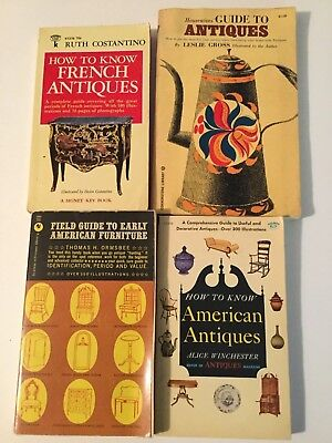 Antique Furniture Book, French, American, Housewife's guide, Field guide 4 books
