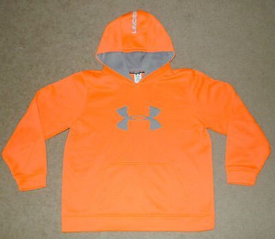 Boys Youth Extra Large XL YXL Under Armour UA Big Logo Hoodie Sweatshirt Shirt