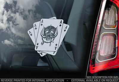 Motorhead - Car Window Sticker - War Pig Playing Cards Decal Lemmy Warpig - V03