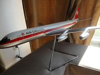 DC 8 Air Canada Vintage Aircraft metal by Fermo maquette agence Avion plane