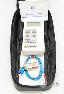ThermoWorks Microtherma 2 Type T Thermometer w/ Probe -346 to 770F