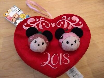 Tsum 2018 Valentines Wreath Mickey Minnie NWT Disney
