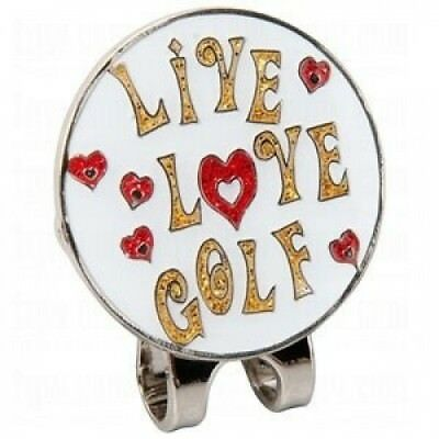 Navika Live Love Golf Glitzy Ball Marker with Hat Clip. Navika USA Inc.