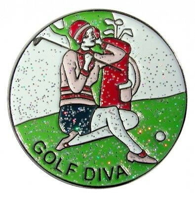 Navika Golf Diva Glitzy Ball Marker with Hat Clip. Navika USA Inc.