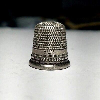 Antique Sterling Silver Sewing Thimble Size 9-Free USA Shipping