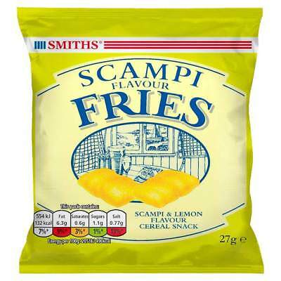 SMITHS SCAMPI  SCAMPY FRIES Snacks 27g x 24 Packets Crisps Bags Lunchbox Lunches