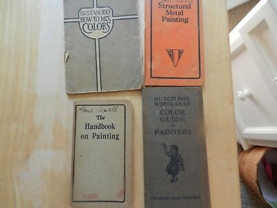 """4 1920-30's National Lead Company 'dutch Boy"""" Brochures With Color Paint Samples"""
