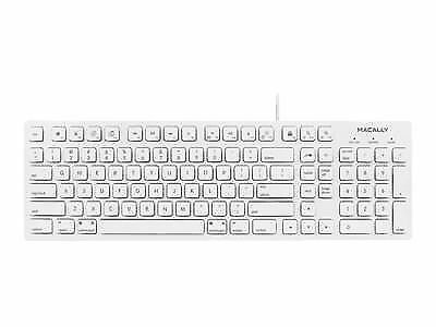 9f595898801 Macally 104 Key Full Size USB Keyboard with Two USB 2.0 Ports for Mac and PC