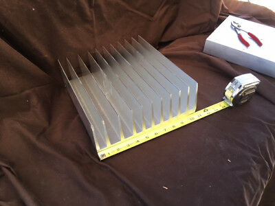 """Large extruded aluminum heat sink, 10 3/4"""" x 12"""" x 3 3/4"""", about 18 pounds."""