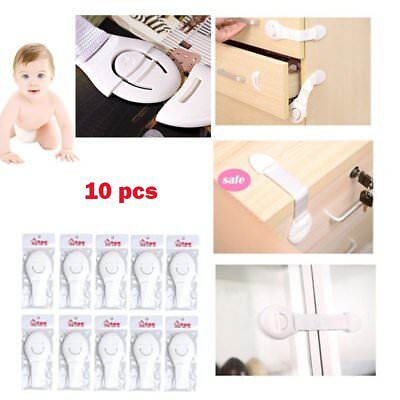 X10 Drawer Door Locks Cabinet Cupboard Locks for Baby Infant Safety US Stock USA