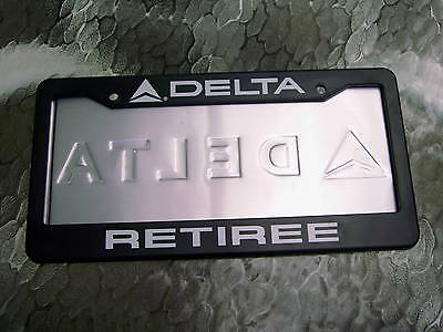 FASTEN YOUR SEAT BELTS NEW DELTA AIR LINES LICENSE PLATE FRAME