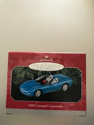 1998 Hallmark Keepsake Ornament 1998 CORVETTE Convertible Classic American Cars