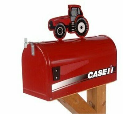Case IH Rural Style Mailbox with Topper Tractor Red