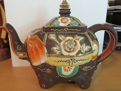 Brown Elephant Teapot Made In Japan