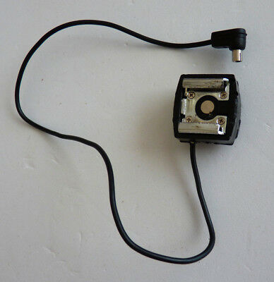 Hot Shoe Flash Extension With An Attached Standard PC Cord