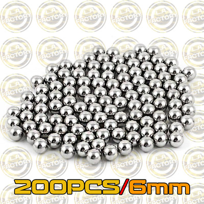 200PCS Stainless Steel Metal Alloy BB Balls 6mm - 0.95g Airsoft Tactical BB's