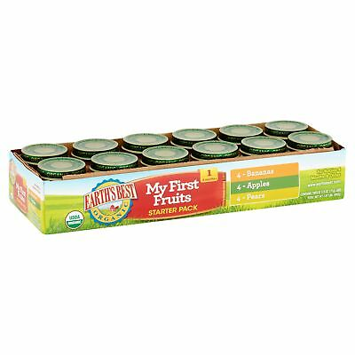 Earth's Best Organic Stage 1 My First Fruits Starter Pack Baby Food 12 ct 2.5oz